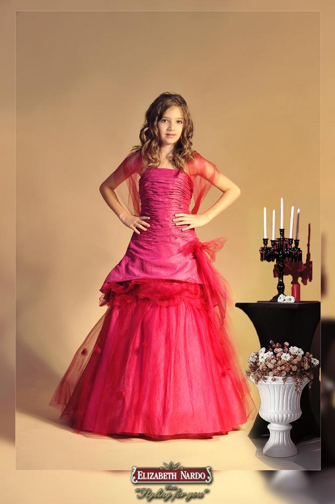 fedd0b0271 Kislány koszorús ruhák - Britney 1104 - Menyasszonyi ruhák, Alkalmi ...