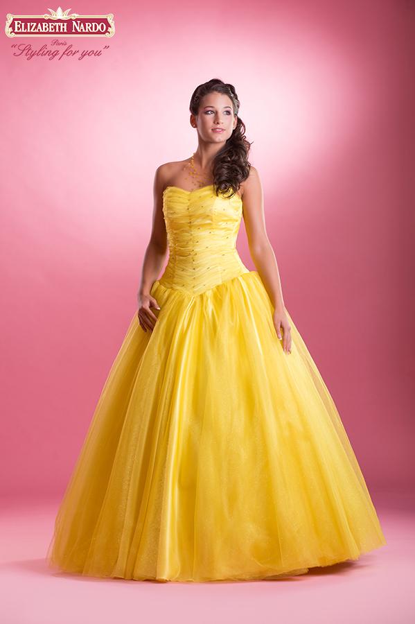 MODELL  15-311 alkalmi-báli-koszorús lány ruha sárga ... e128cc329d