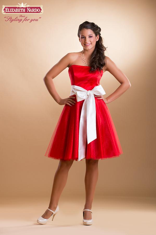 9ad974f815 Menyecske ruhák - 15-105 menyecske-koktél ruha:piros csillogó tüllös ...