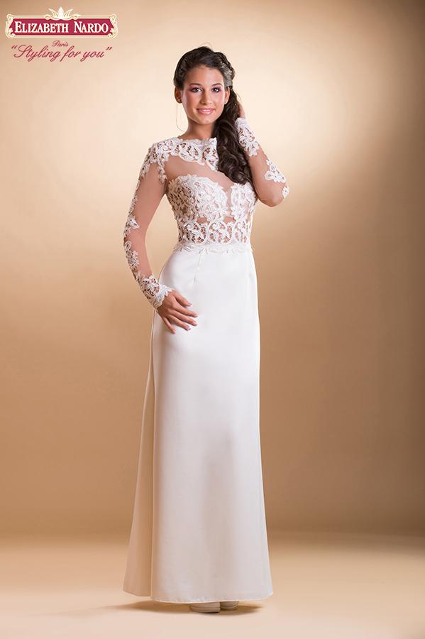66e911b787 Alkalmi Báli ruhák - 15-334 alkalmi-menyasszonyi ruha: tört színű ...