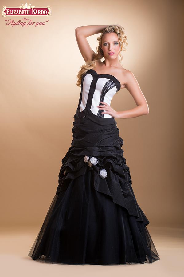 decb5cd903 Alkalmi Báli ruhák - 15-335 alkalmi-báli ruha:fekete-fehér ...