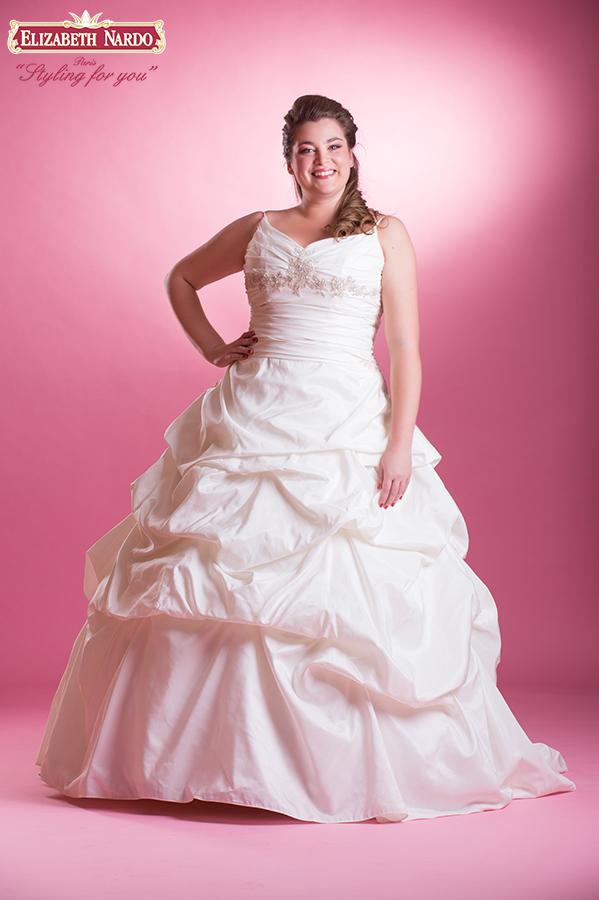 Menyasszonyi ruha és menyecske ruha Plus Size - 13-153 lila vállas ... 4446522113