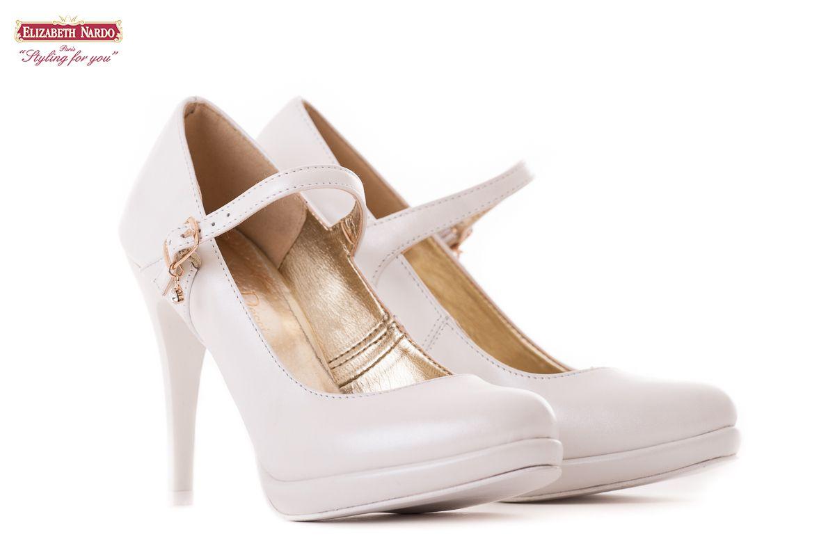 c7e8fcd4634c CIPŐK - 17-901 Claudio Dessi fehér női bőrcipő 10,5 cm-es sarokkal ...