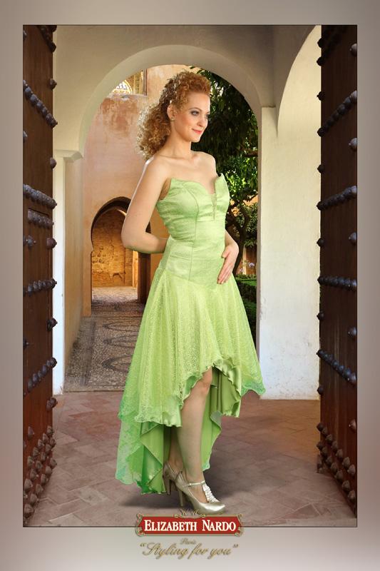cbab7ea3d0 Alkalmi Báli ruhák - Alkalmi-báli ruha:13-210 zöld elöl rövid-hátul ...