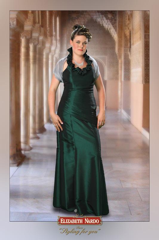 3268209d83 Menyasszonyi ruha és menyecske ruha Plus Size - 13-145 zöld taft ...
