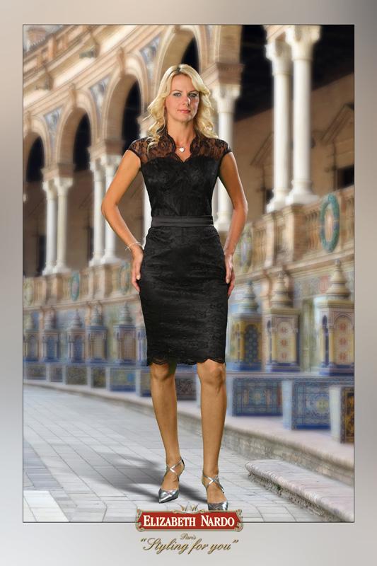 14b9a8da5a Örömanya ruha, Renee - 13-122 fekete csipkeruha - Menyasszonyi ruhák ...