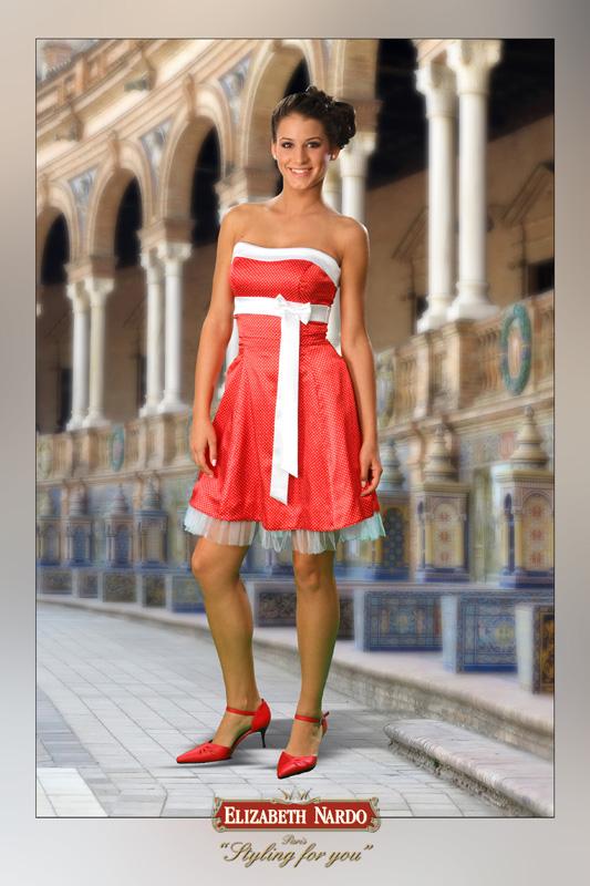 3032d508d9 Menyecske ruhák - 15-105 menyecske-koktél ruha:csillogó tüllös ...