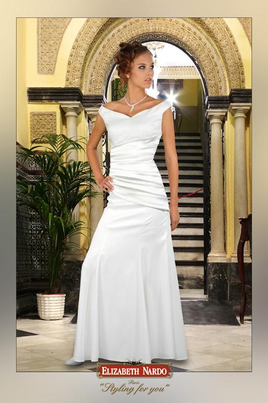 Alkalmi Báli ruhák - Alkalmi ruha 13-174 tört fehér ejtett válú ... a9f69470cb