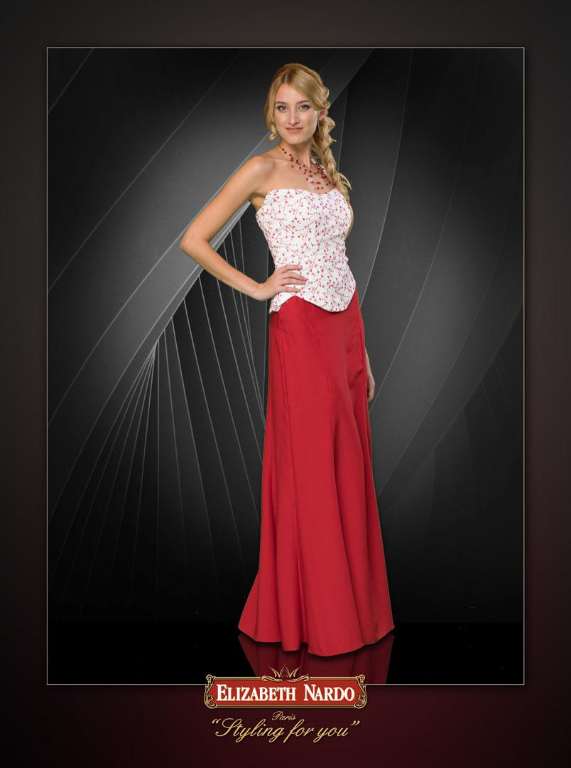 ec6a188a4d Menyecske ruhák - 15-101 menyecske ruha:piros szatén-tüll kombináció ...