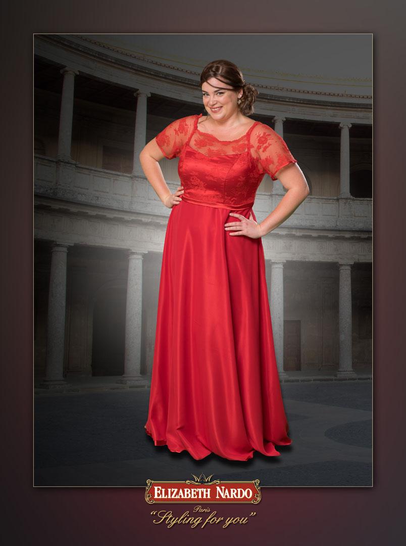 Menyasszonyi ruha és menyecske ruha Plus Size - 13-160 pink taft ... 43397e57b4