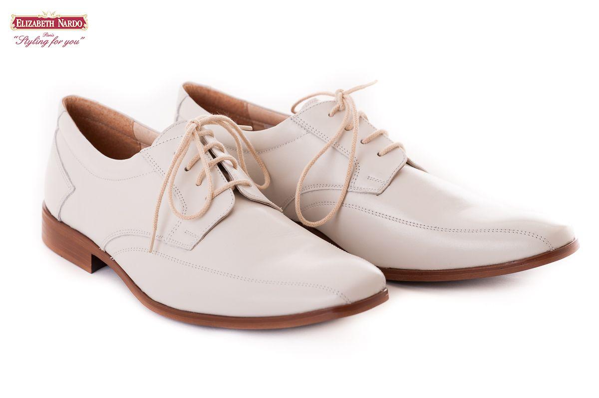 Férfi cipők 17 905 Morandi férfi bőrcipő törtfehér színben